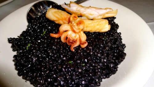 Squid Ink Couscous.