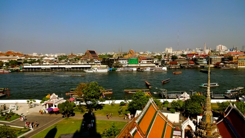 View of Bangkok from Wat Arun.