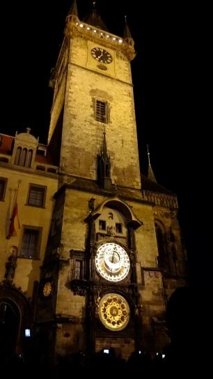 Astronomical Clock at Night.