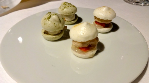 Macaroons with Oysters and Anchovies.