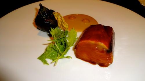 Tuna with Miso Sauce and Eggplant.