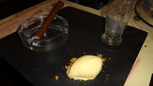 Chocolate Cigar and Rum Ice Cream.