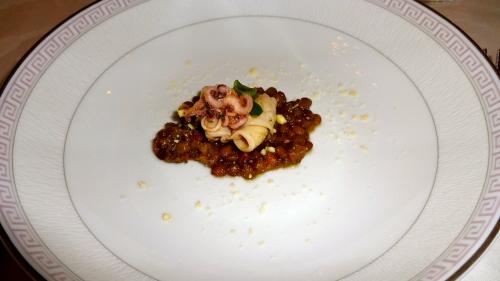 Calamari with Lentils.