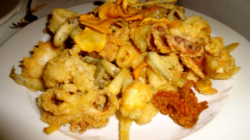 Mixed Fried Seafood.