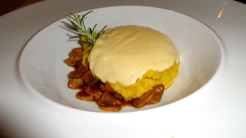 Polenta with Mushrooms.