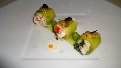 King Crab and Cucumber Maki.