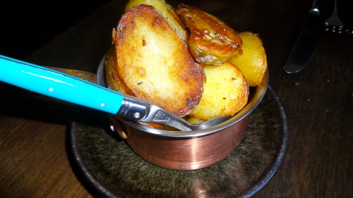 Duck Fat Roasted Potatoes.