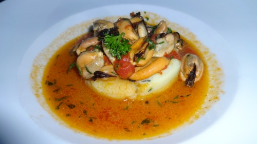 Mussel Soup with Potatoes.