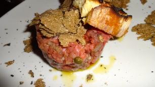 Beef Tartare with Black Truffles.