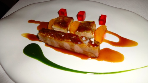 Duck with Orange and Campari Jelly.