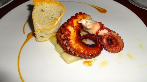 Octopus with Potato Cake.