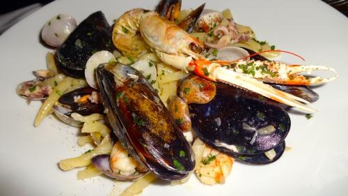 Strozzapreti with Mixed Seafood.