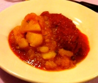 Meatballs in Tomato Sauce with Potatoes.