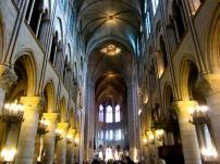 Inside Notre Dame de Paris.