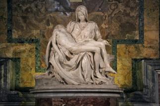 Pietà by Michelangelo Inside St. Peter's Basilica.