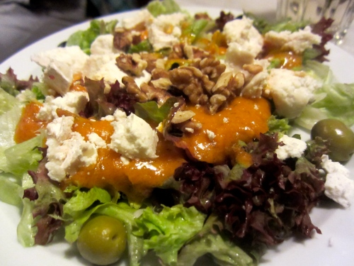 Goat Cheese Salad.