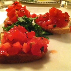 Bruschetta with Tomato.