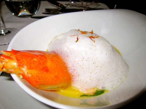 Seafood Soup with Coconut Foam.