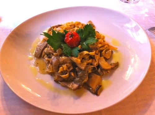 Tagliatelle with Porcini Mushrooms.