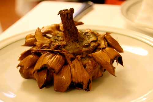Carciofi alla Giudia, Fried Artichoke.