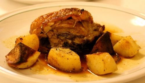 Roasted Lamb with Roasted Potatoes.