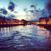 The Arno River.
