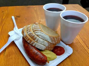 Weiners and Hot Wine, Yum!
