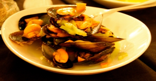 Marinated Mussels.