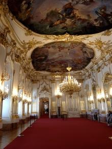 Inside Schönbrunn Palace.