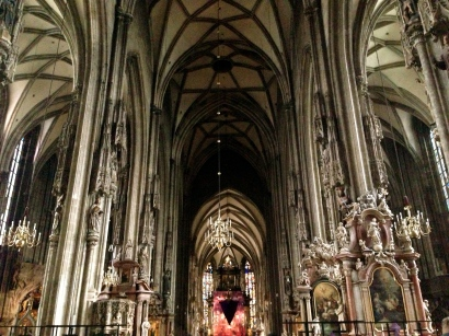 Inside St. Stephens Cathedral.