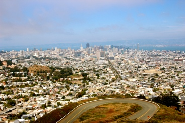 View of San Francisco from Twin Peaks.