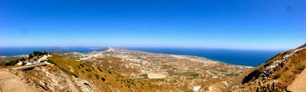 View of Santorini Island.
