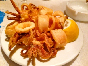 Perfectly Cooked Fried Calamari.