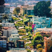 View of Lombard Street from Coit Tower.