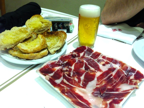 Cured Meat with Bread.