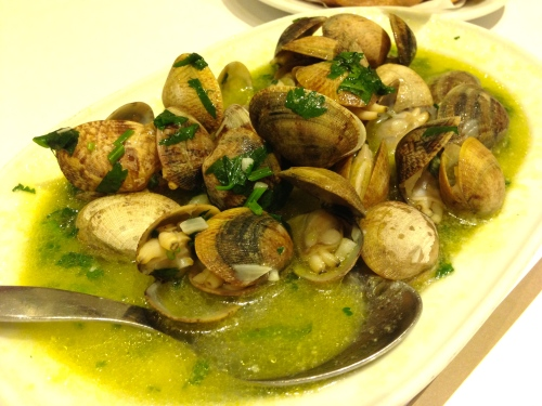 Amazing Garlic Clams.