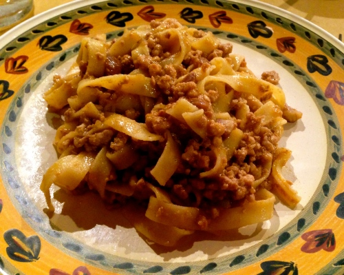 Homemade Tagliatelle with Ragu.