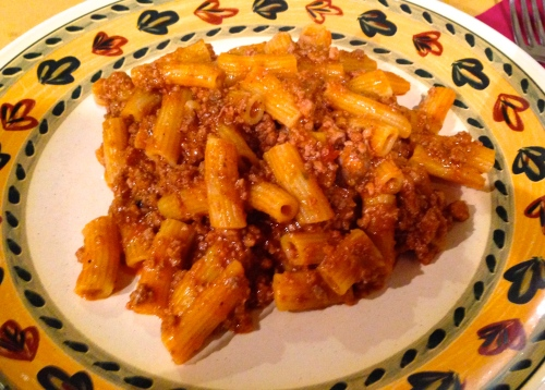 Maccheroni with Ragu.