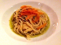 Spaghetti with Bottarga.
