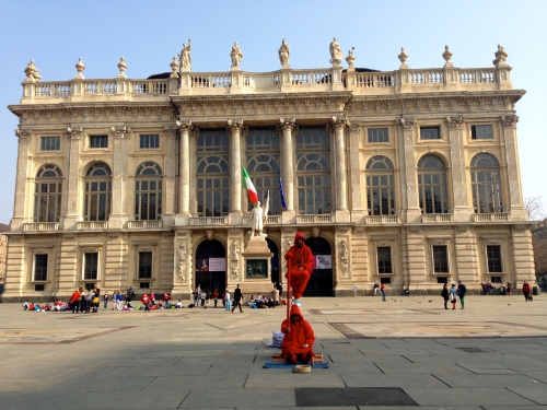 Main Piazza in Turin.