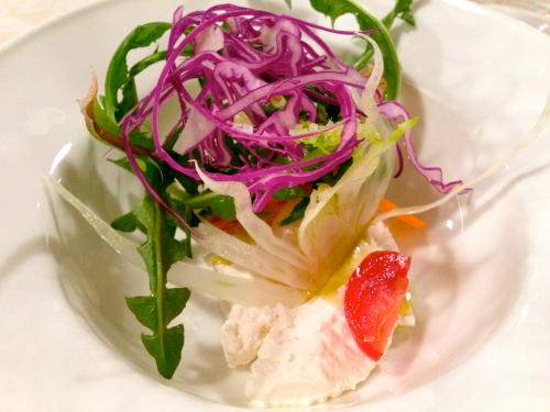 House-made Ricotta with Fresh Vegetables.