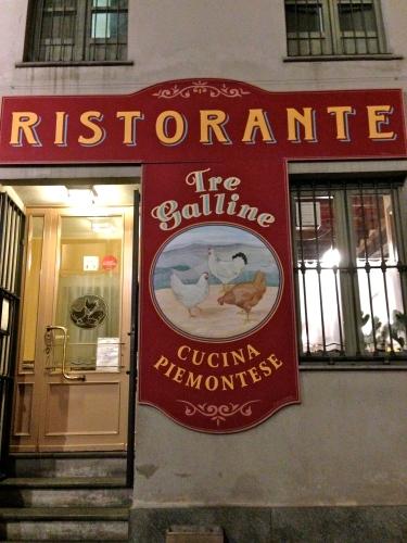 Tre Galline Restaurant Serving Delicious Piedmontese Cuisine.