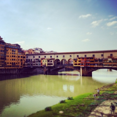 Ponte Vecchio During the Spring.