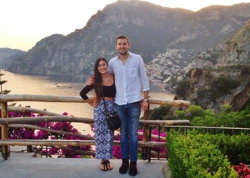 Enjoying Our Last Night in Positano.