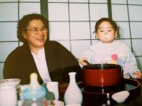 Munching on Rice in Japan with My Grandma.