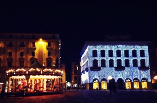 Piazza Repubblica During the Holidays.