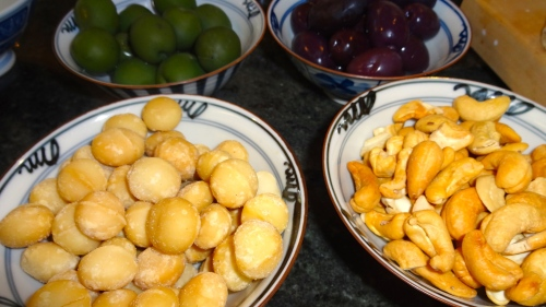 Nuts and Olives.