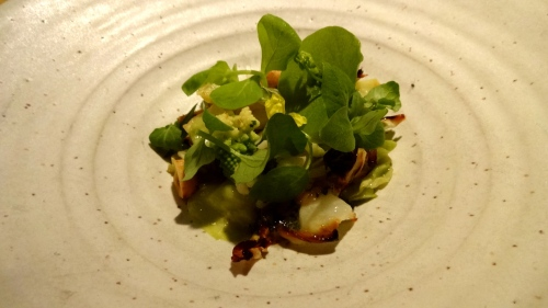 Winter Brassicas with Hazelnuts, Candied Apple Cider, Capers, and Licorice Herbs (8/10).