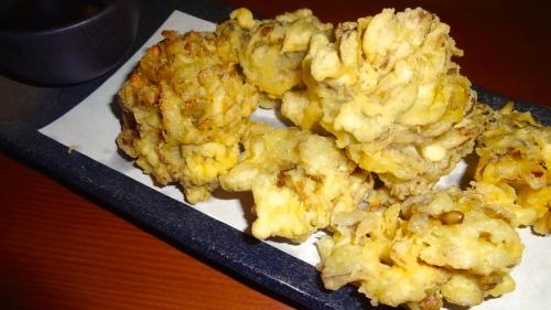Maitake Mushroom Tempura with Soy-Dashi Dipping Sauce (7/10).