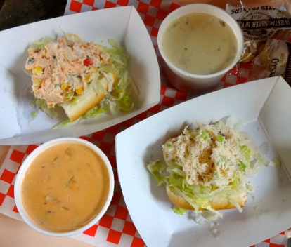 Chowder and Seafood Sandwiches.